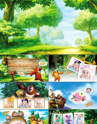 卡通宝宝贝成长日记生日PPT亚博体育下载app苹果下载