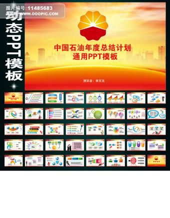 中国石油化工能源年终报告总结规划PPT
