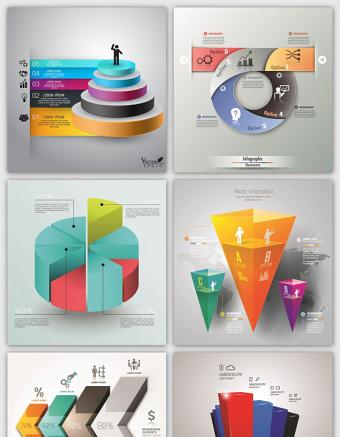 超多款流程圖信息圖表EPS矢量素材
