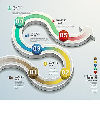 立体箭头信息图表