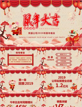 2020猪年大吉企业年终新年晚会典礼PPT亚博体育下载app苹果