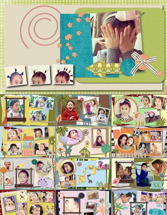 卡通儿童相册生日PPT亚博体育下载app苹果幻灯片下载