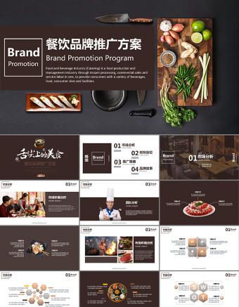 餐饮美食餐厅文化品牌建设品牌推广PPT亚博体育下载app苹果幻灯片