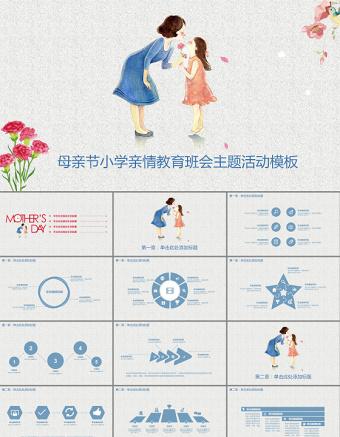 小学班会母亲节PPT亚博体育下载app苹果幻灯片下载
